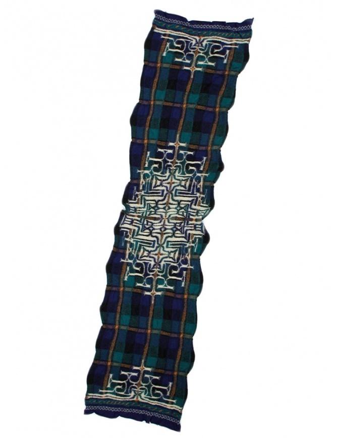 Sciarpa tartan navy Kapital K1509XG332 NAVY sciarpe online shopping