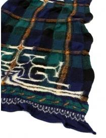 Kapital navy tartan scarf