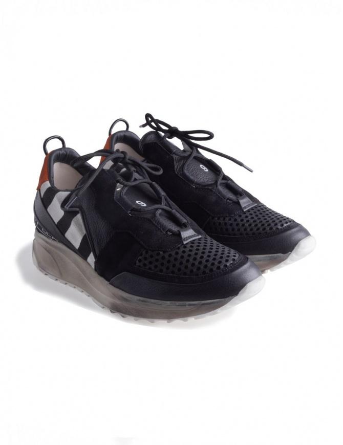 Leather Crown Waero 102 Shoes WAERO-102-NERO+BIANCO+ORANGE womens shoes online shopping
