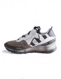 Waero 103 Leather Crown Women's Sneakers WAERO-103-BIANCO+KAKI+NERO