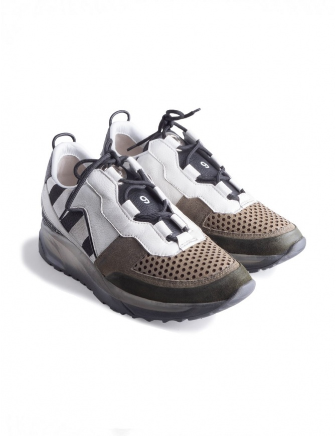 Sneakers Waero 103 Leather Crown WAERO-103-BIANCO+KAKI+NERO calzature donna online shopping
