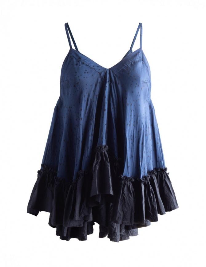 Canottiera a Trapezio Blu a Stelline Miyao MO-B-05 BLUE NAVY canotte donna online shopping