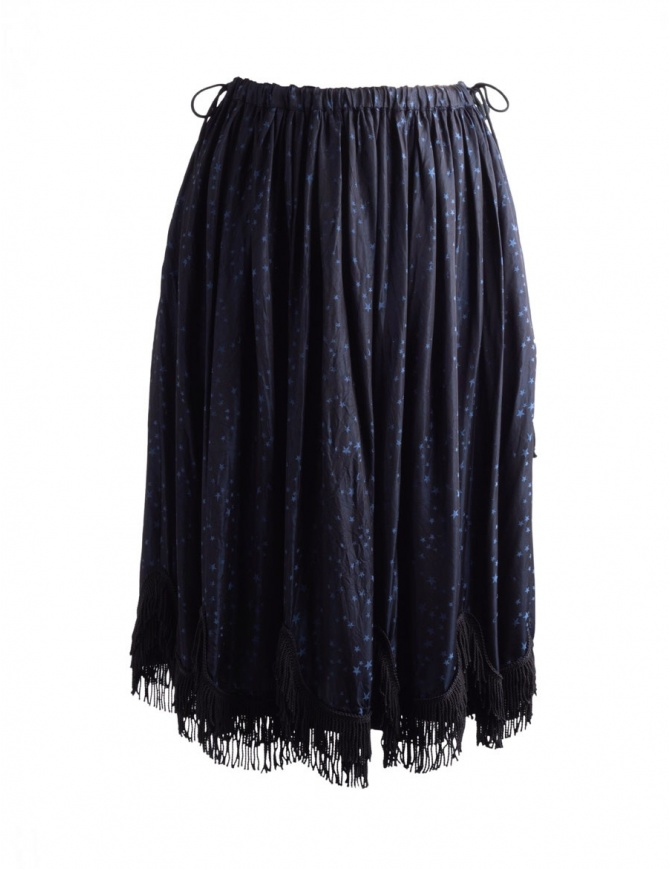 Miyao Blue Star Print Skirt MO-S-04 NAVY BLK SKIRT womens skirts online shopping