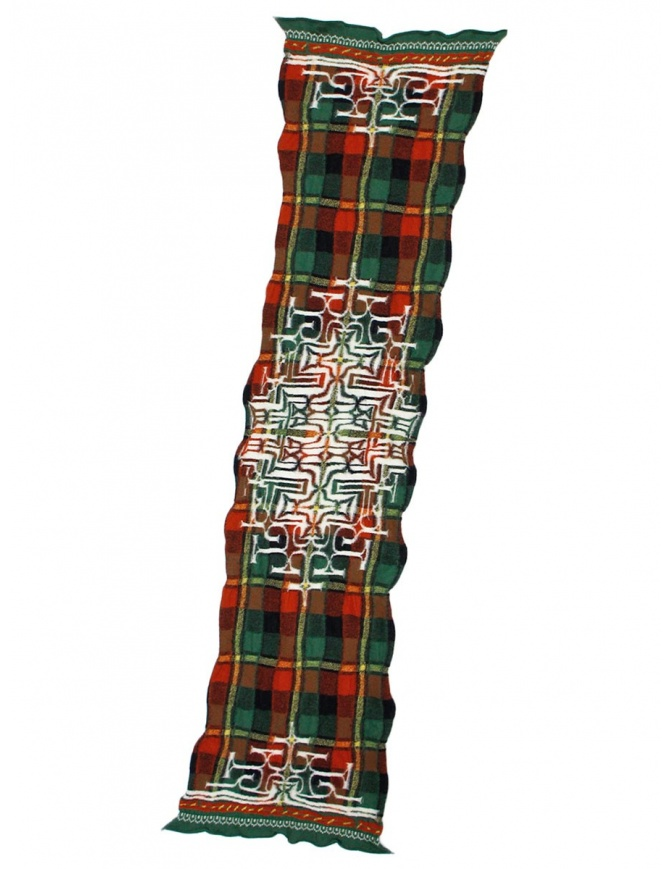 Kapital red tartan scarf K1509XG332 GREEN scarves online shopping