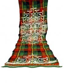 Kapital red tartan scarf