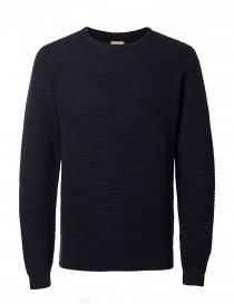 Mens knitwear online: Dark blue Selected Homme Indigo sweater