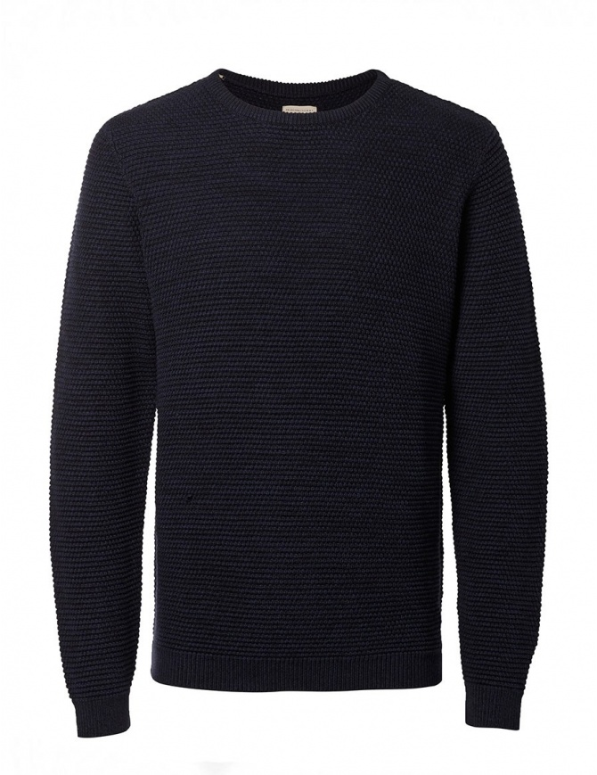Dark blue Selected Homme Indigo sweater 16051309 NAVY BLACK mens knitwear online shopping