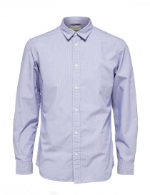 Blue striped Selected Homme shirt online