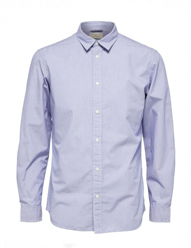 Camicia a righe blu Selected Homme 16060040 SKYWAY camicie uomo online shopping