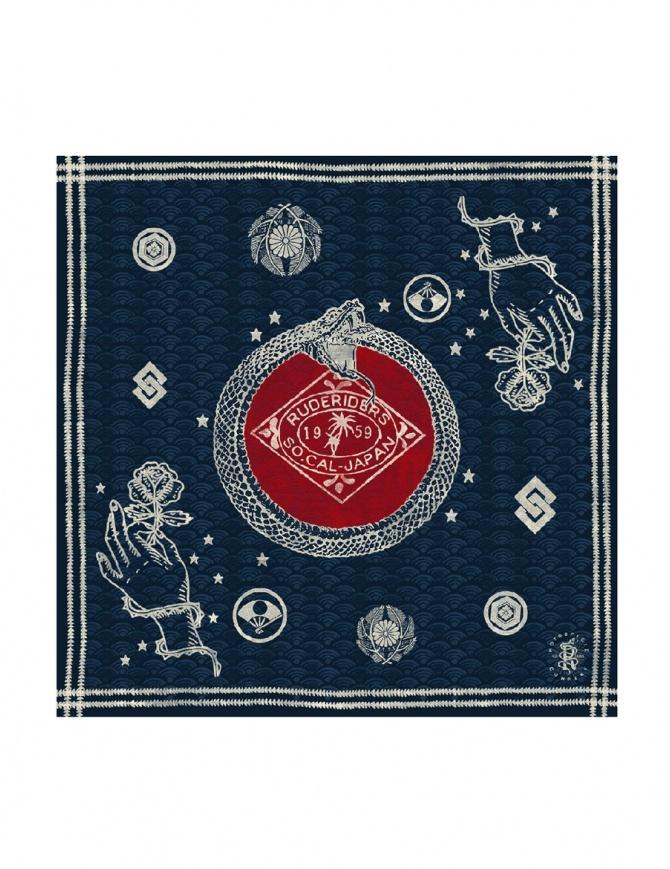 Bandana Blu con Stemma a Serpente Rude Riders R01803 sciarpe online shopping