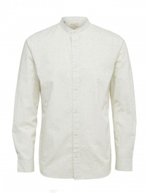Mens shirts online: Selected Homme stippled ivory shirt