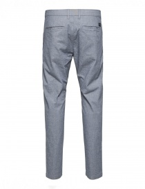 Selected Homme trousers with white and dark navy blue weft