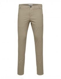 Mens trousers online: Selected Homme greige trousers