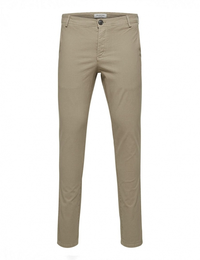 Selected Homme greige trousers 16408096 GREIGE mens trousers online shopping