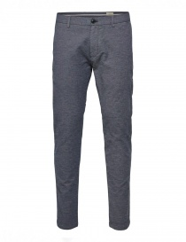 Mens trousers online: Selected Homme trousers with dark blue weft