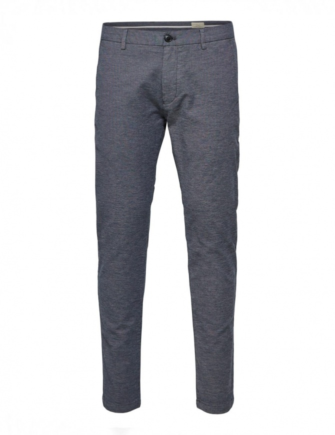 Selected Homme trousers with dark blue weft 16061097 NAVY BLUE mens trousers online shopping