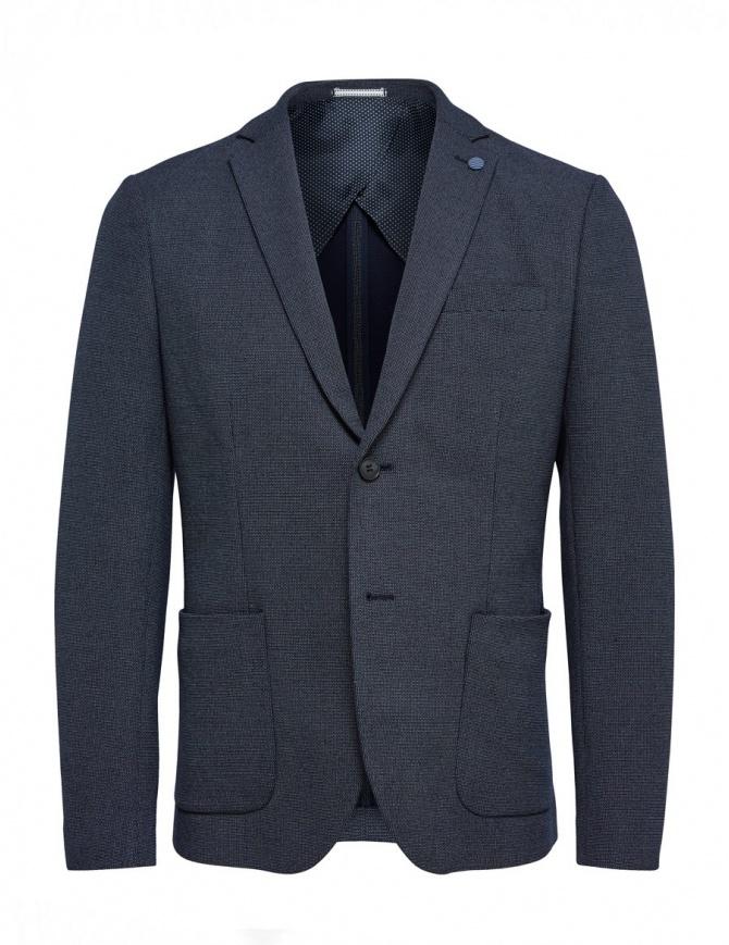 Giacca blu carta da zucchero Selected Homme con spilla 16059838 giacche uomo online shopping