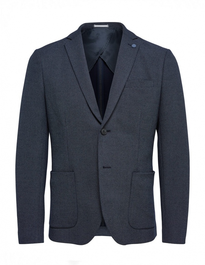 Selected Homme dark blue jacket with brooch 16059838 mens suit jackets online shopping