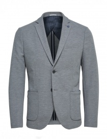 Mens suit jackets online: Selected Homme light gray jacket