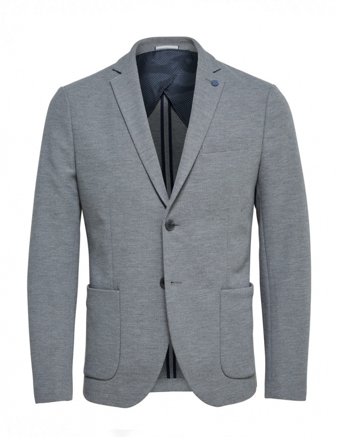 Selected Homme light gray jacket 16059836 LIGHT GRAY mens suit jackets online shopping