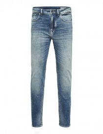 Selected Homme light blue elasticated jeans online