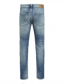 Selected Homme light blue elasticated jeans