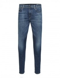 Selected Homme dark blue elasticated jeans online