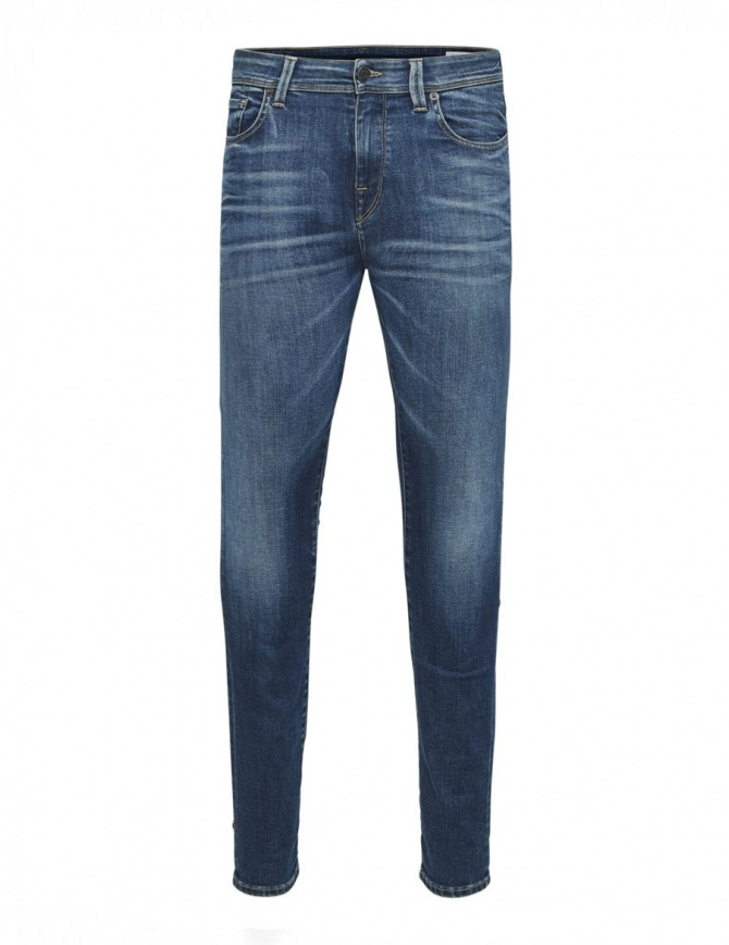 Selected Homme dark blue elasticated jeans 16061480 DARK BLUE DENIM mens jeans online shopping