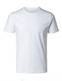 T-shirt bianca SHD pima Selected Homme online