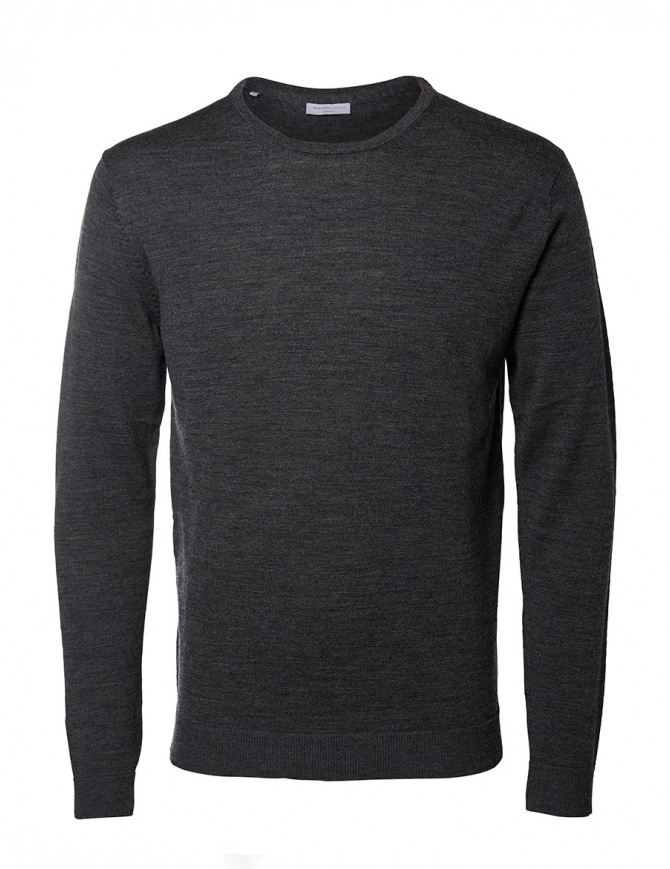 Selected Homme medium gray sweater 16047949 MEDIUM GRAY mens knitwear online shopping