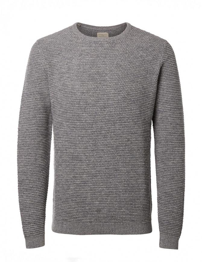 Maglione grigio chiaro Selected Homme 16051309 MID GRAY maglieria uomo online shopping