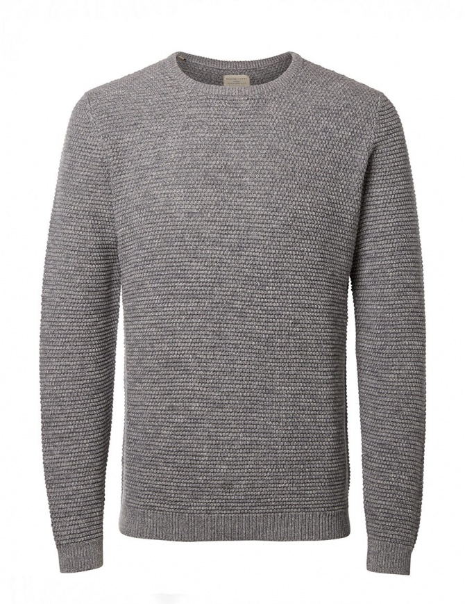 Selected Homme mid gray sweater 16051309 MID GRAY mens knitwear online shopping