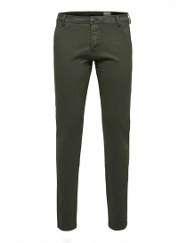 Mens trousers online: Selected Homme forest green trousers