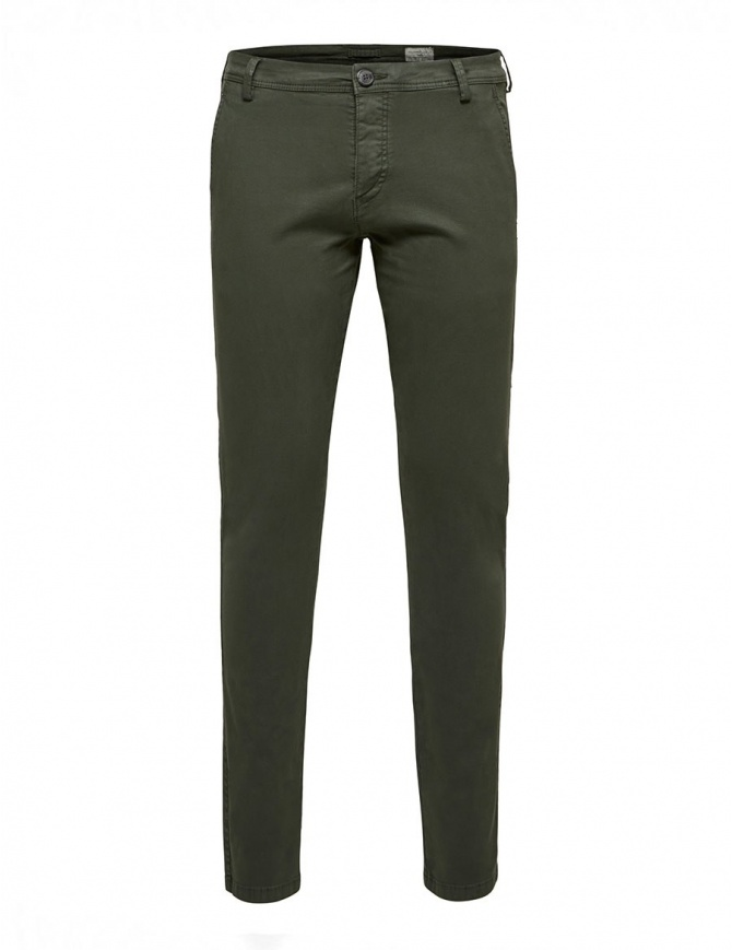 Pantaloni verde foresta Selected Homme 16057032 FOREST NIGHT pantaloni uomo online shopping