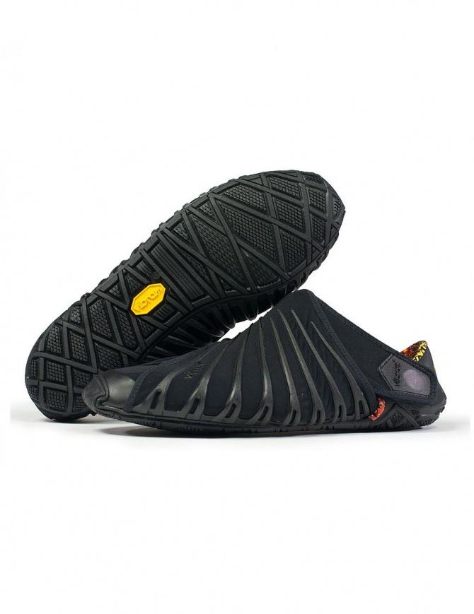 Scarpa nera da uomo Vibram Furoshiki edizione 2018 18MAD06 BLACK calzature uomo online shopping