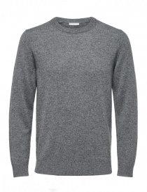 Selected Homme Cashmere medium gray pullover 16059316-Medium-Grey-Melange order online