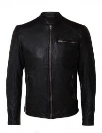 Giubbino in pelle di agnello Selected Homme 16053649-BLACK
