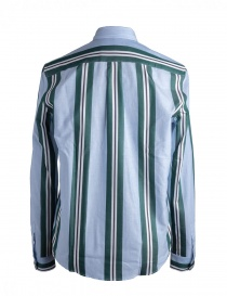 Golden Goose pale blue shirt with green stripes