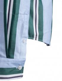 Camicia azzurra a righe verdi Golden Goose prezzo