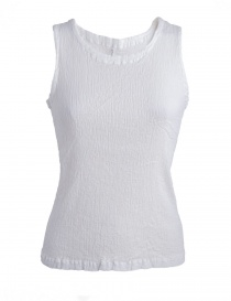 Women s tops online: Crêperie white top crêpe fabric