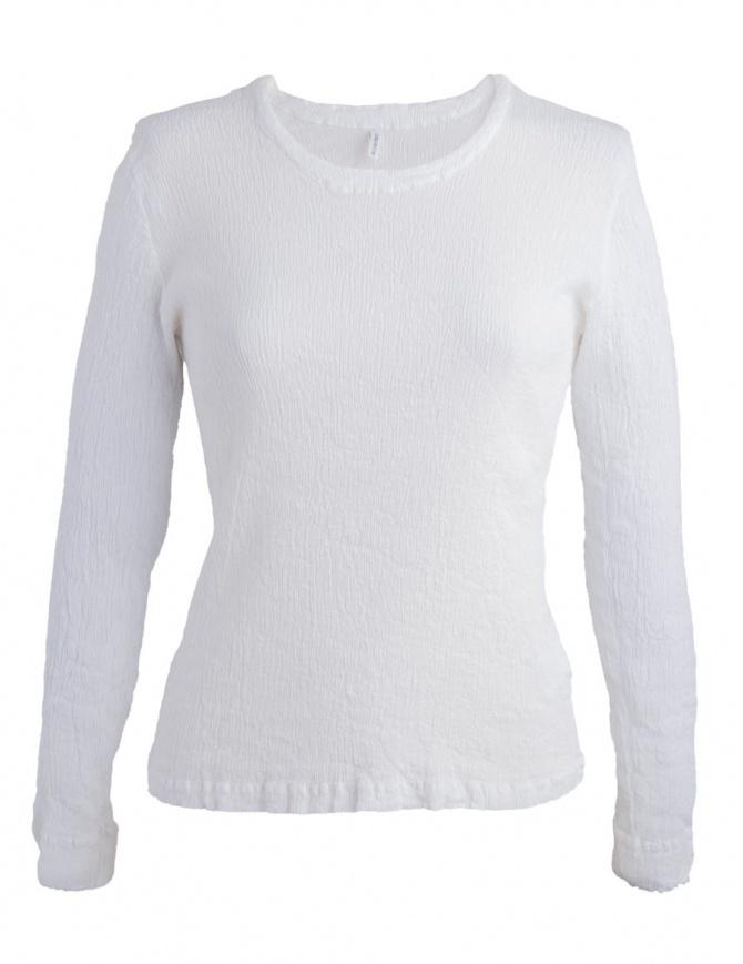 Maglia bianca Crêperie con effetto increspato TC87-FN503 WHITE maglieria donna online shopping