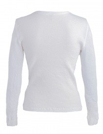 Crêperie white sweater with wrinkles effect