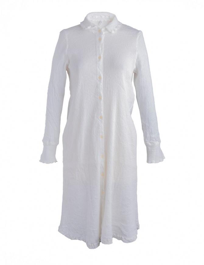 Crêperie long white dress TC87-505 WHITE womens dresses online shopping