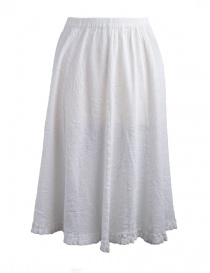 Womens skirts online: Crêperie white skirt crepe fabric