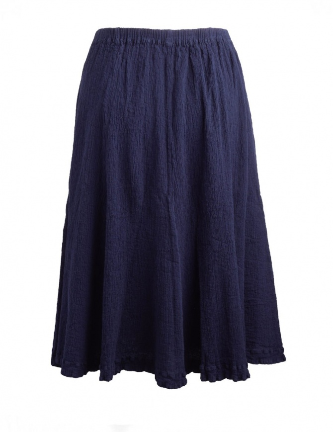 Crêperie dark blue skirt with crepe fabric TC05FG507 BLU womens skirts online shopping