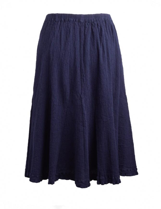 Gonna blu scuro Crêperie effetto increspato TC87-FG507 BLUE gonne donna online shopping