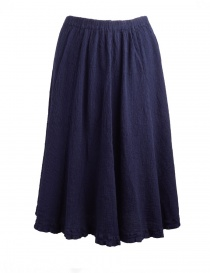 Crêperie dark blue skirt with crepe fabric