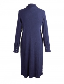 Crêperie long buttoned blue dress