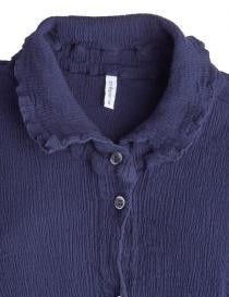 Crêperie long buttoned blue dress price