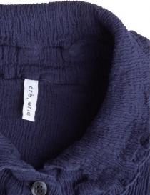Abito Crêperie lungo abbottonato blu abiti donna acquista online